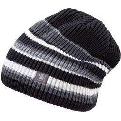 Kama Pleciona czapka zimowa Merino Kamakadze K58 czarny