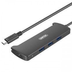 Hub USB Unitek V300A USB Typ-C 3.1 OTG 3x USB + HDMI