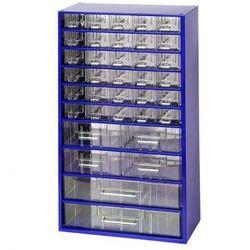 Metalowa szafka z szufladami, 36 szuflad