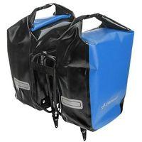 Sakwy, torby i plecaki rowerowe, CO1010.30.05 Sakwy rowerowe Crosso DRY SMALL 30l Niebieskie zestaw na tył / przód
