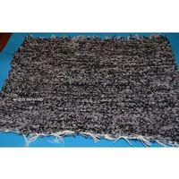 Wycieraczki, Chodnik bawełniany (wycieraczka) ręcznie tkany czarno-szary 65x50