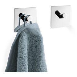 Zestaw 2 wieszaków na ręczniki Zack Duplo kwadratowy połysk
