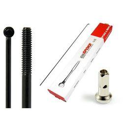 Szprychy CNSPOKE STD14 2.0-2.0-2.0 stal nierdzewna 304mm czarne + nyple 144szt.