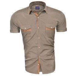 Wyprzedaż koszula z krótkim rękawem tlt11-camelowa