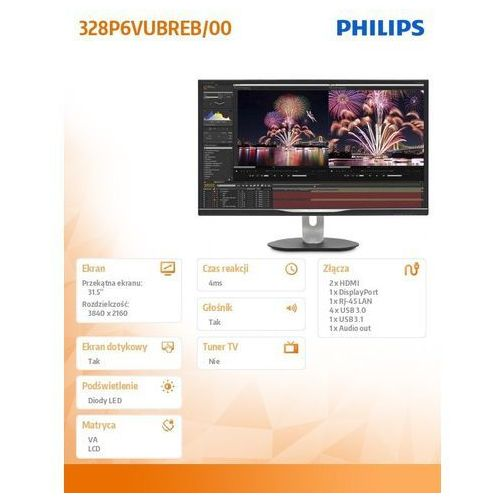 Monitory LCD, LCD Philips 328P6VUBREB
