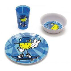 Zak! Smiley Kid - Zestaw naczyń dla chłopca 3cz.