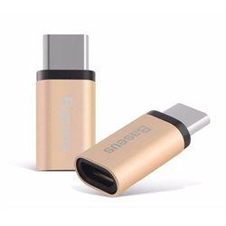 Oryginalny Adapter Baseus MICRO USB - USB-C TYP C Złoty - Złoty