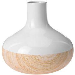 Ceramiczny wazon WOOD LOOK na sztuczne kwiaty, dekoracje