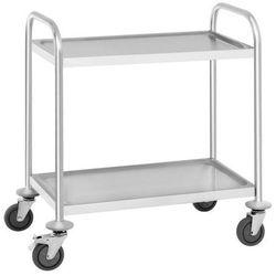 Wózek kelnerski nierdzewny 2-półkowy składany RCSW 2.1H