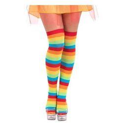 Pończochy klauna w kolorowe paski - 1 para