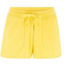 Szorty dresowe z wiązanym paskiem bonprix żółty ananasowy