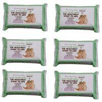 Chusteczki dla niemowląt, Zestaw 6xBezzapachowe Organiczne Chusteczki Nawilżane, 72 szt., Beaming Baby
