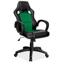Fotel gamingowy Signal Q-103 - fotel dla gracza - czarny-zielony - WYSYŁKA 24H - DOSTAWA GRATIS