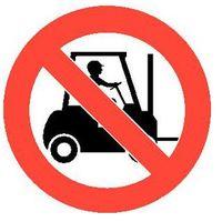 Oznakowanie informacyjne i ostrzegawcze, Piktogram z PCV,wózki widłowe niedozwolone, opak. 2 szt.