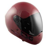 Ochraniacze na ciało, kask TSG - pass solid color (+ bonus visor) gloss oxblood (262) rozmiar: L