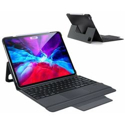 Dux Ducis Touchpad Keyboard Case etui na tablet bezprzewodowa klawiatura Bluetooth iPad Pro 12.9'' 2020 czarny