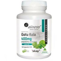 Wąkrota azjatycka Gotu Kola 400 mg 100 kapsułek Aliness