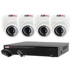 Monitoring Zestaw 4 kamerowy do szkoły przedszkola 4W1 4x Kamera LV-AL1M2FDPWH Rejestrator 4 kanałowy LV-XVR44SE P2P