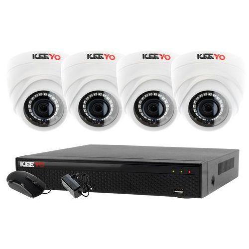 Zestawy monitoringowe, Monitoring Zestaw 4W1: 4x Kamera LV-AL1M2FDPWH + Rejestrator 4 kanałowy LV-XVR44SE P2P