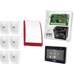 Zestaw alarmowy: Płyta główna INTEGRA 32, Manipulator dotykowy INT-TSG-BSB, 6x Czujka BINGO, Sygnalizator zewnetrzny SPL-5010 R, Akcesoria