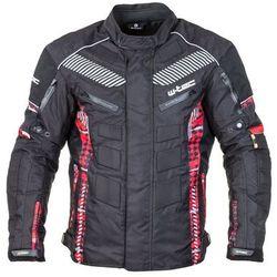 Męska kurtka motocyklowa W-TEC Kamicer NF-2100, Czarno-czerwony, WXL