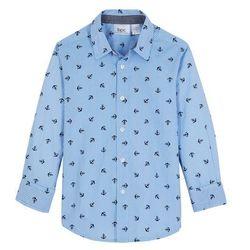 Koszula z długim rękawem w paski, Regular Fit bonprix jasnoniebiesko-biały w paski