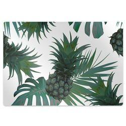 Podkładka pod krzesło obrotowe Podkładka pod krzesło obrotowe Zielone ananasy