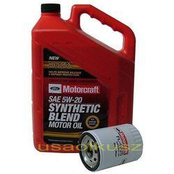 Oryginalny filtr oraz olej silnikowy Motorcraft 5W20 Ford Windstar