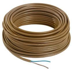 Kabel zasilający H03VVH2F 2 x 0,75 mm2 25 m złoty