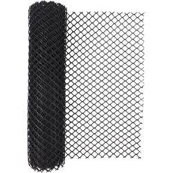 Siatka ogrodzeniowa z tworzywa sztucznego typ 300HD czarna 60 cm x 500 cm