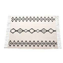 Dywan JACALA w stylu berberyjskim — 100% bawełny — 120 × 170 cm — beżowy