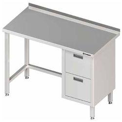Stół przyścienny z blokiem dwóch szuflad po prawej stronie 1100x700x850 mm | STALGAST, 980257110