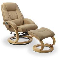 Fotel HALMAR MATADOR z funkcją masażu i podgrzewania - beżowy