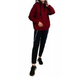 Bawełniany dres damski komplet De Lafense 496 Just bordowy
