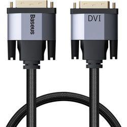 Baseus Enjoyment dwukierunkowy kabel przewód DVI / DVI 1m szary (CAKSX-Q0G) - 1