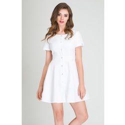 Sukienka Medyczna z Baskinką Biała