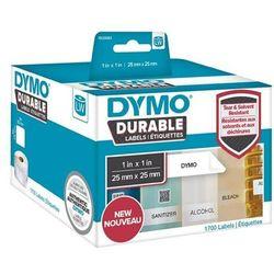 Oryginalne etykiety polipropylenowe DYMO LW 1933083 durable 25mm x 25mm białe/czarny nadruk