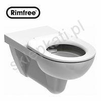 Miski i kompakty WC, KOŁO NOVA PRO BEZ BARIER RIMFREE miska wisząca bez wewnętrznego kołnierza - dla osób niepełnosprawnych, kolor BIAŁY M33520000