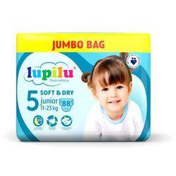 LUPILU® Pieluchy SOFT&DRY 5 Junior (11-23 kg), 88 sztuk
