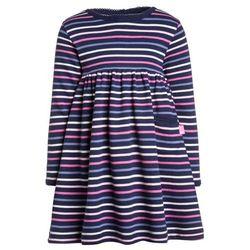 JoJo Maman Bébé MULTI STRIPE CLASSIC DRESS Sukienka z dżerseju navy