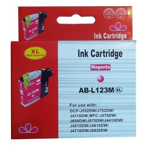 Tusze do drukarek, zastępczy atrament Brother [LC-123M] magenta 100% nowy