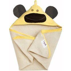 Ręcznik dziecięcy z kapturem 3 sprouts małpka żółta