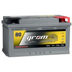 Akumulator GROM Premium 80Ah 740A EN DTR niski