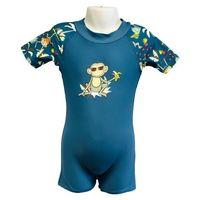 Stroje kąpielowe dla dzieci, Strój kąpielowy kombinezon dzieci 76cm filtr UV50+ - Petrol Jungle \ 076cm
