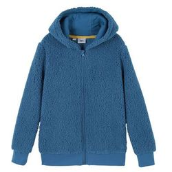Bluza rozpinana z polaru z kapturem bonprix jasny indygo