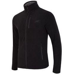 Bluza polarowa męska 4F PLM001 czarny - Męskie \ czarny 4f na m14 (-30%)