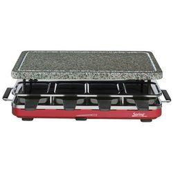 grill elektryczny Raclette 8 z granitową płytą, czerwony - SPRING - Czerwony -10 (-10%)