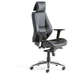 Krzesło biurowe STIRLING, wysokie oparcie, skóra ekologiczna, czarny