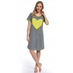 Koszula nocna ciążowa i do karmienia - Ołówkowa Żółte Serce