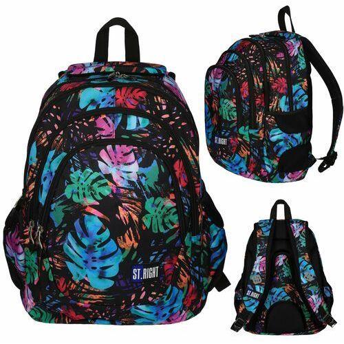 Tornistry i plecaki szkolne, ST.RIGHT Plecak szkolny 4 komory Exoic Garden 2019